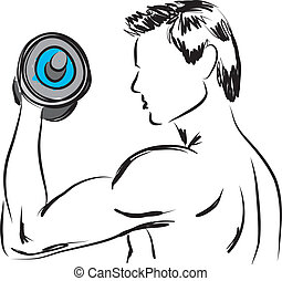 work-out, illustration, 2