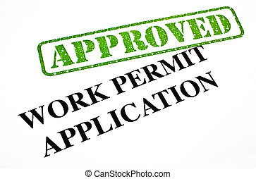 Work Permit Application APPROVED - A close-up of an APPROVED...
