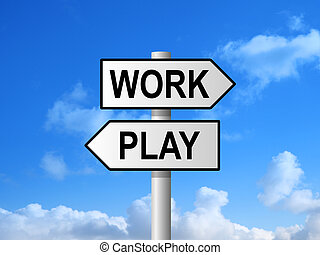 Work Play Signpost