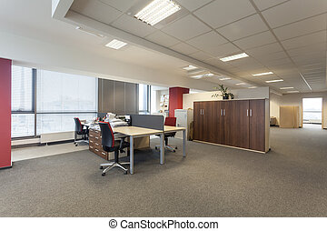 Work room with desks in an office