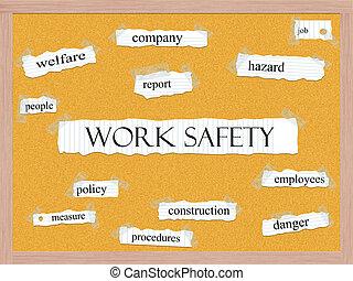 Work Safety Corkboard Word Concept