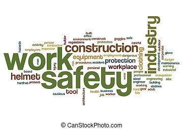Work safety word cloud