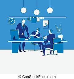 Work scheduling concept vector illustration in flat design