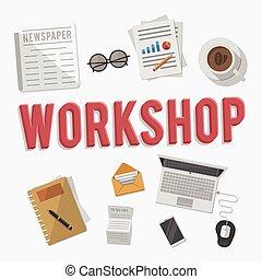 Work Shop Equipment business illust