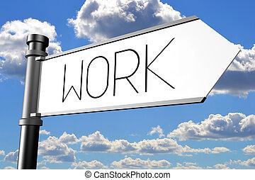 Work signpost