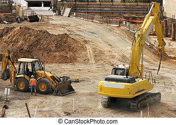 Work site - A construction work site