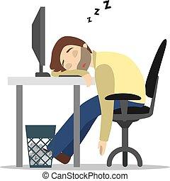 work., slapende