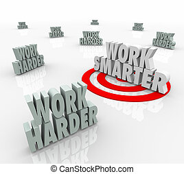 Work Smarter Targeted Productivity Efficiency Advice Vs Harder