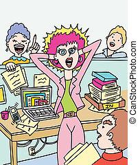 work stress cartoon.