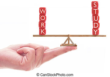Work study balance concept