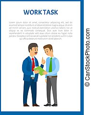 Work Task Vector. Company Leader Giving Directions