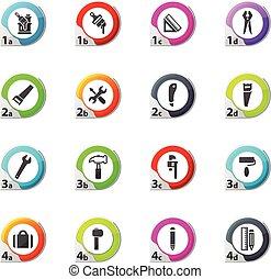 Work tools icons set
