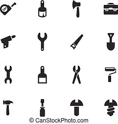 Work tools icons set - Work tools vector icons for user...