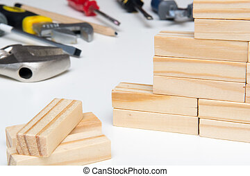 Work tools isolated on a white background