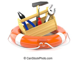 Work tools with life buoy