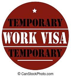 Work Visa-label