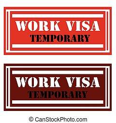 Work Visa-stamps
