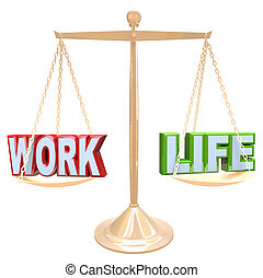 Work Vs Life Words on Scale Balancing Life Stress - The...