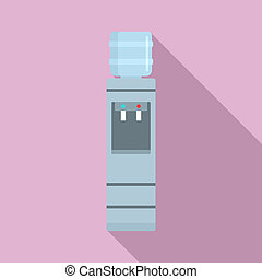 Work water cooler icon, flat style - Work water cooler icon....