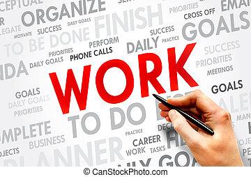 WORK word cloud