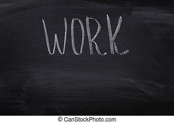 work word on blackboard