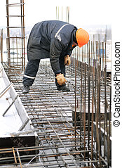worker at building construction site