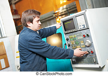 worker at tool workshop - mechanical technician near cnc...