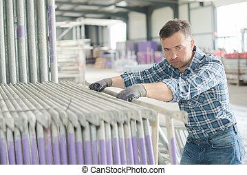 worker at work