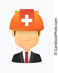 Worker avatar with   the Swiss flag