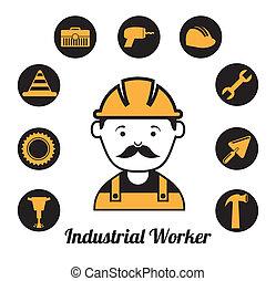 worker design - worker design over white background vector...