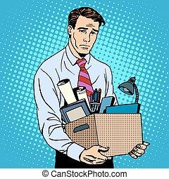 Worker fired businessman loser