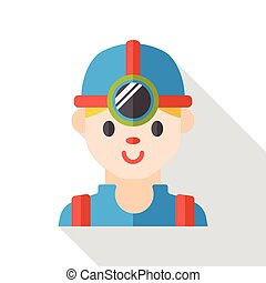 Worker flat icon