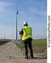 Worker foreman wind turbine