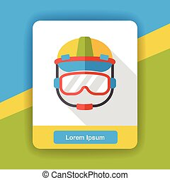worker helmet flat icon