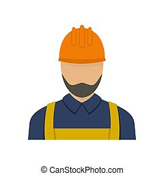 Worker icon, flat style