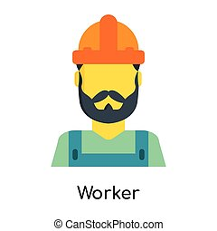 Worker icon isolated on white background
