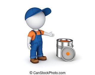Worker in a uniform. - 3d rendered worker in a uniform ...