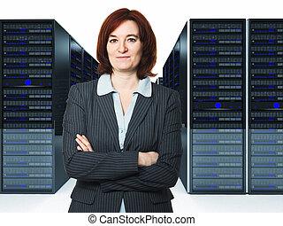 worker in datacenter