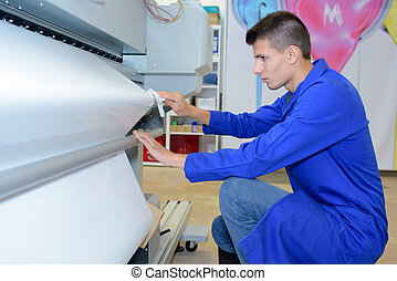 worker in printing company