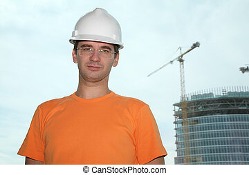 worker in the helmet