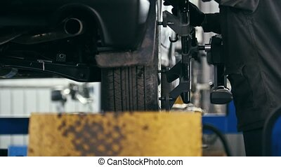 Worker in workshop car service - the collapse of convergence...