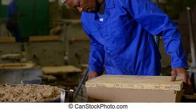 Worker making mold in foundry workshop 4k - Worker making ...