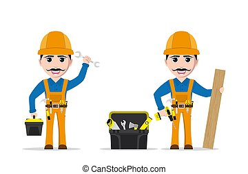 worker man character