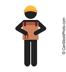 worker man courier icon