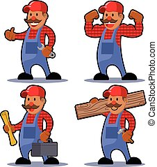 Worker Man Mustache