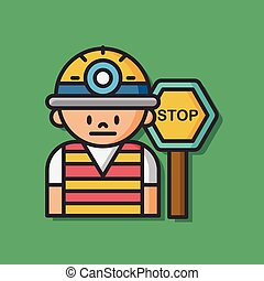 worker man vector icon