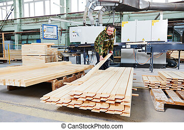 wood processing manufacture - Worker of wood processing...