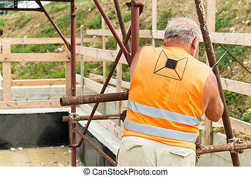 Worker on a contruction site
