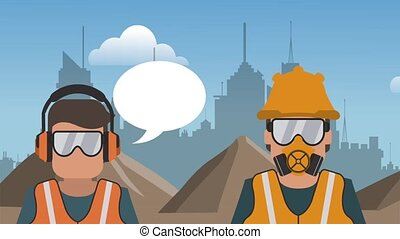 Worker on construction zone