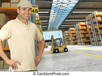Worker on Distribution warehouse - worker on a distribution ...